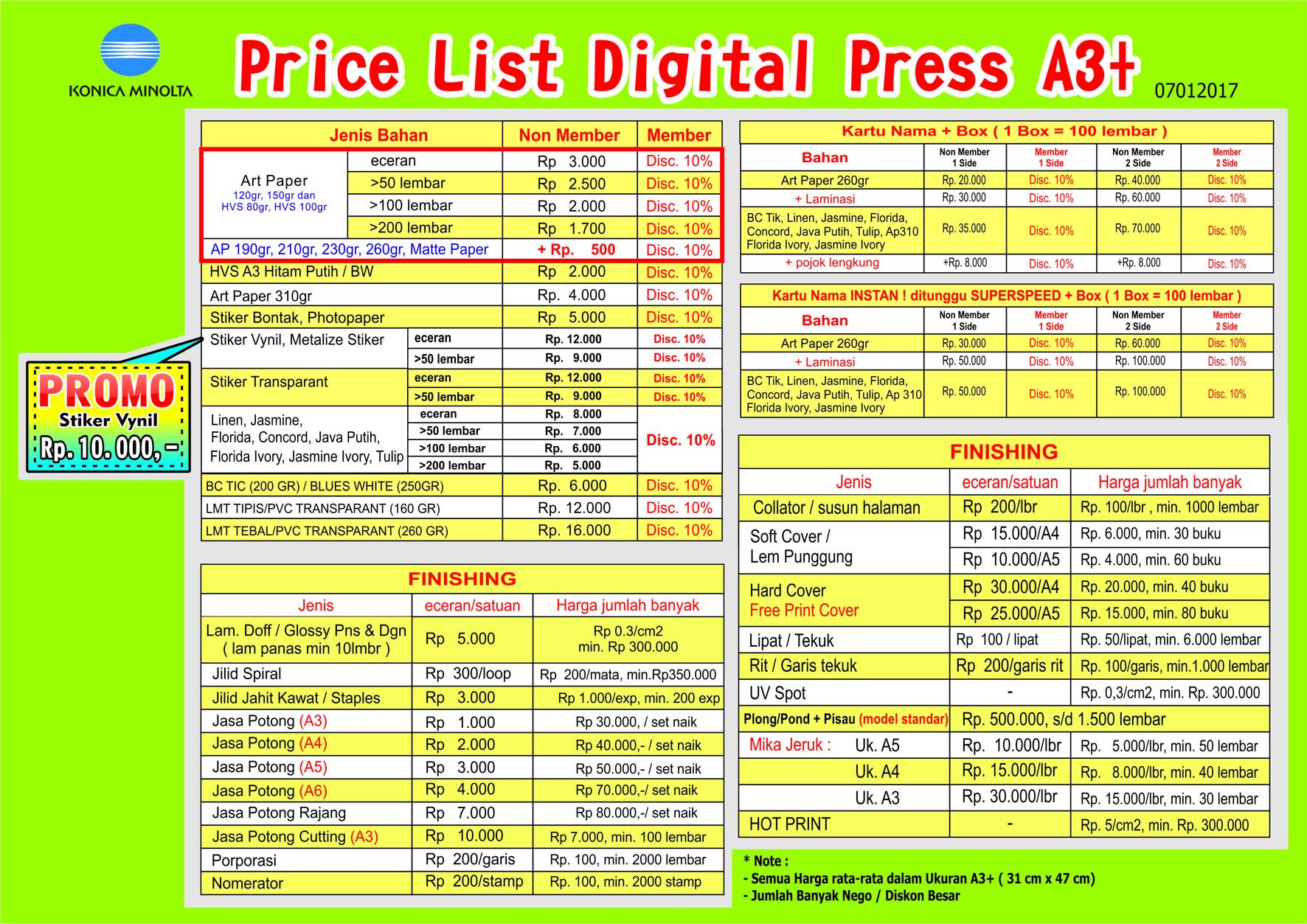 Beda Jenis, Beda Harga Digital Printing